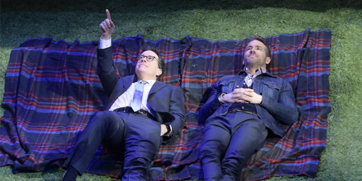 Watch Stephen Colbert zing Ryan Reynolds over