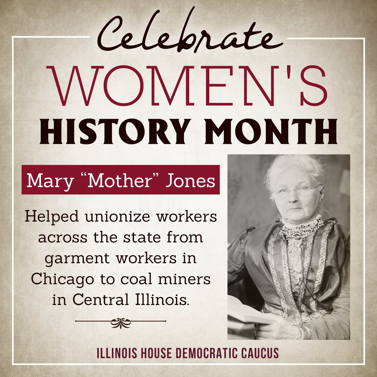 "test Twitter Media - Mary ""Mother"" Jones traveled the country fighting to improve working conditions and encouraged the formation of unions.. #WomensHistoryMonth https://t.co/6fmt3GsrZe"