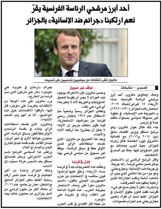 [EXCLUSIF] La propagande d'Al-Qaïda évoque les propos de Macron sur la colonisation >> https://t.co/QkmT7zazqe