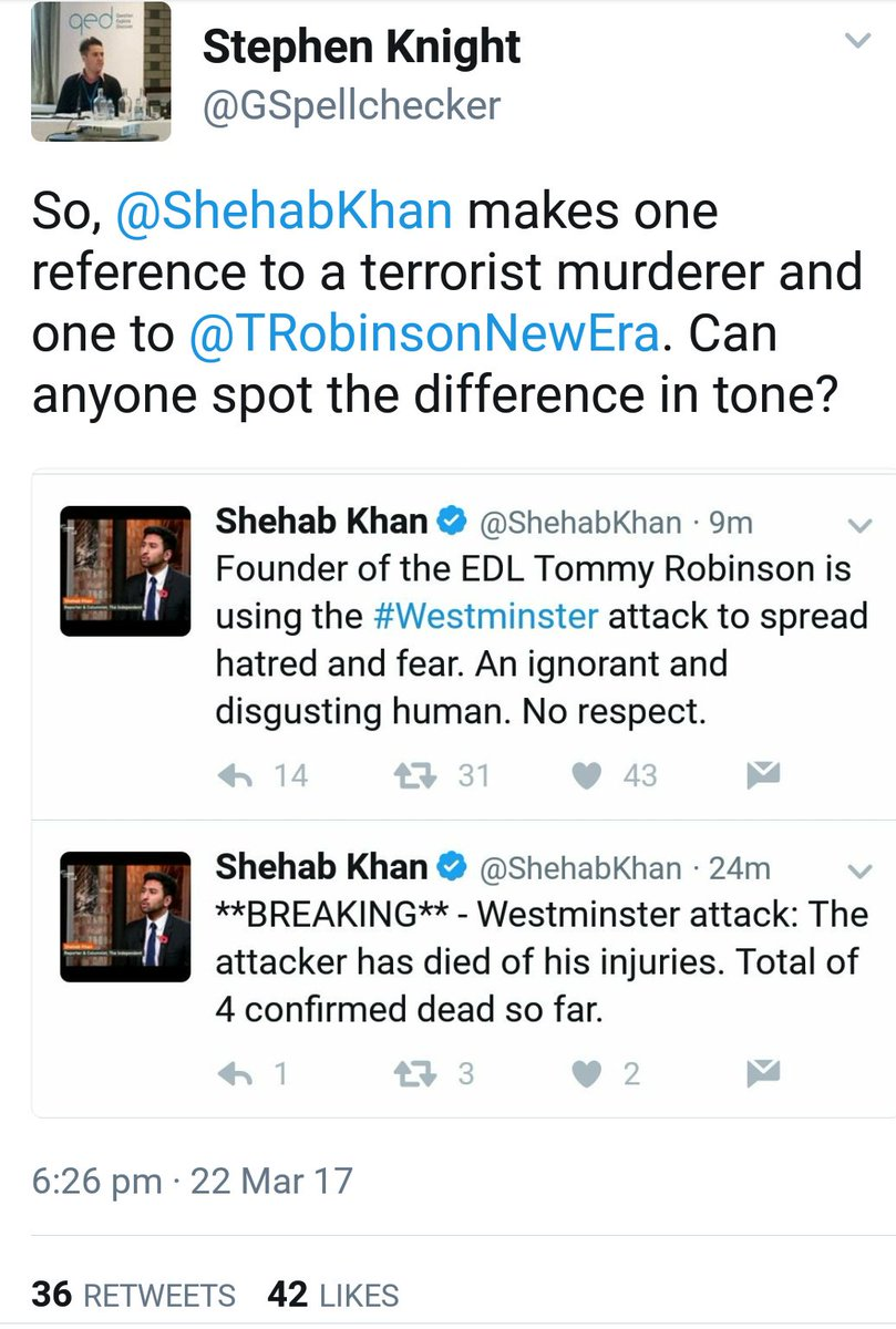Difference: Reporting news and fact vs calling out a VILE opportunist who is peddling hatred https://t.co/0hA398liv3