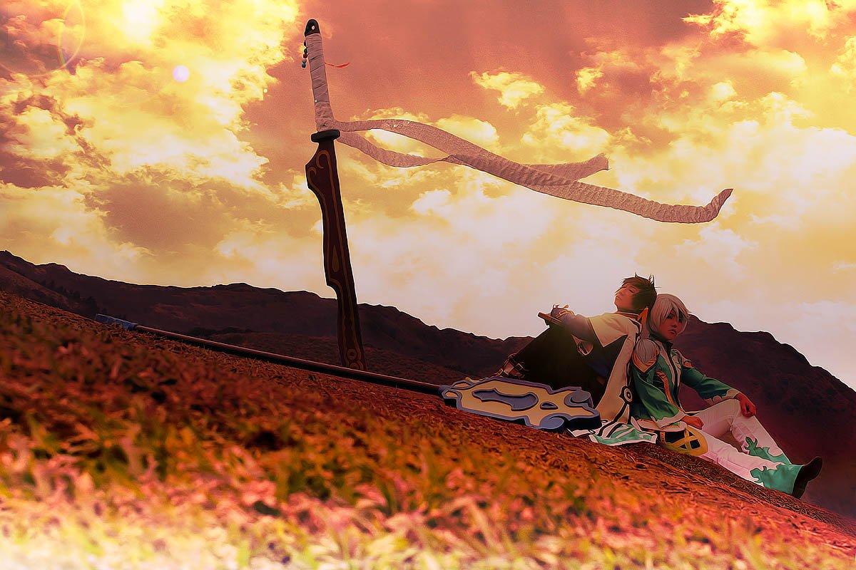 #コスプレ #TOZスレイ: photo by:月玲 響け~風ノ唄~目を閉じれば心の声~背中押すよ(熱唱