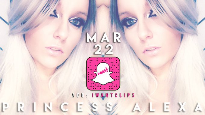 """Princess Alexa #iWantClipsTakeover is here! Tune in for more! Add us on SnapChat """"iWantClips"""" 👻 https://t"""