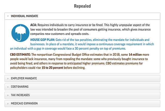 With a vote set for tomorrow, a look at the differences between the proposed House Republican plan and Obamacare. https://t.co/W8cQgMvKiE