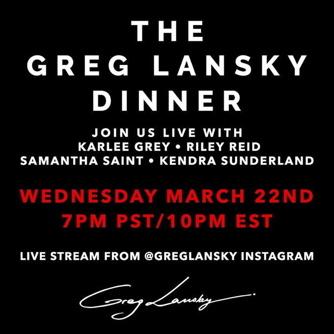 They can try and copy but there's only ONE @GregLansky dinner and that's tonight!!! See you guys there