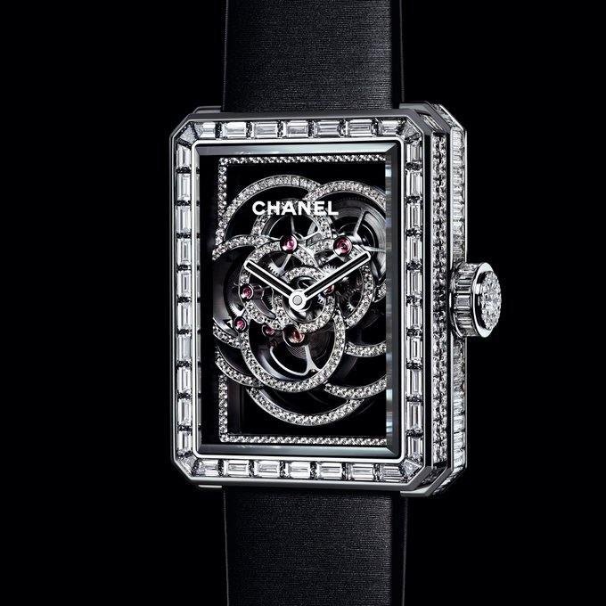 Inspired by the camellia, CHANEL's second fine watchmaking movement is revealed at #Baselworld2017 and on https://t.co/rZ5sZ42ba4