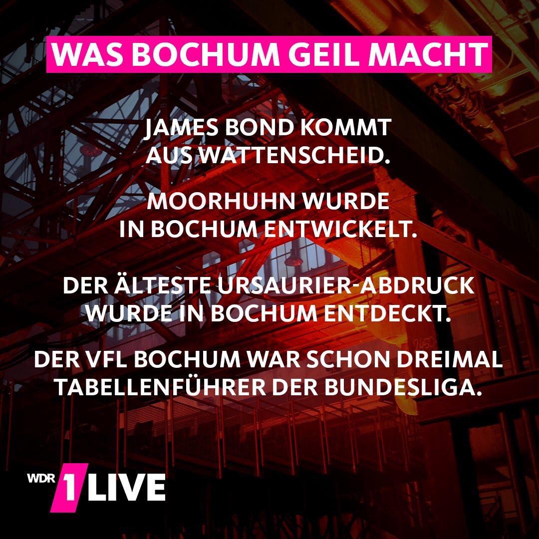 RT @jan_buehlbecker: @1live, @Bochum_de: stimmt! #VonHierAus Und die SG Wattenscheid 09 erst! ❤️ https://t.co/GuR3iCUW9M