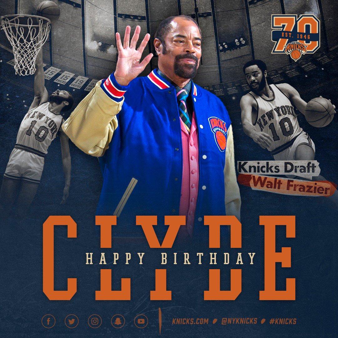 RT to wish @WaltFrazier a happy birthday! #Knicks