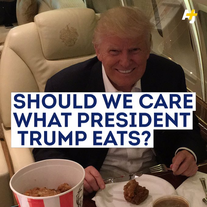 Where does President Trump's diet fit in the grand scheme of things?