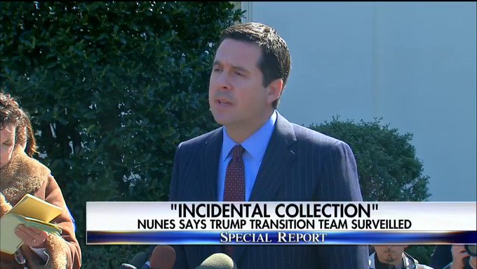 'Incidental collection' - @DevinNunes says Trump transition team surveilled. #SpecialReport