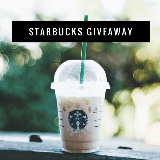 $200 Starbucks Gift Card Giveaway (3/23 WW)