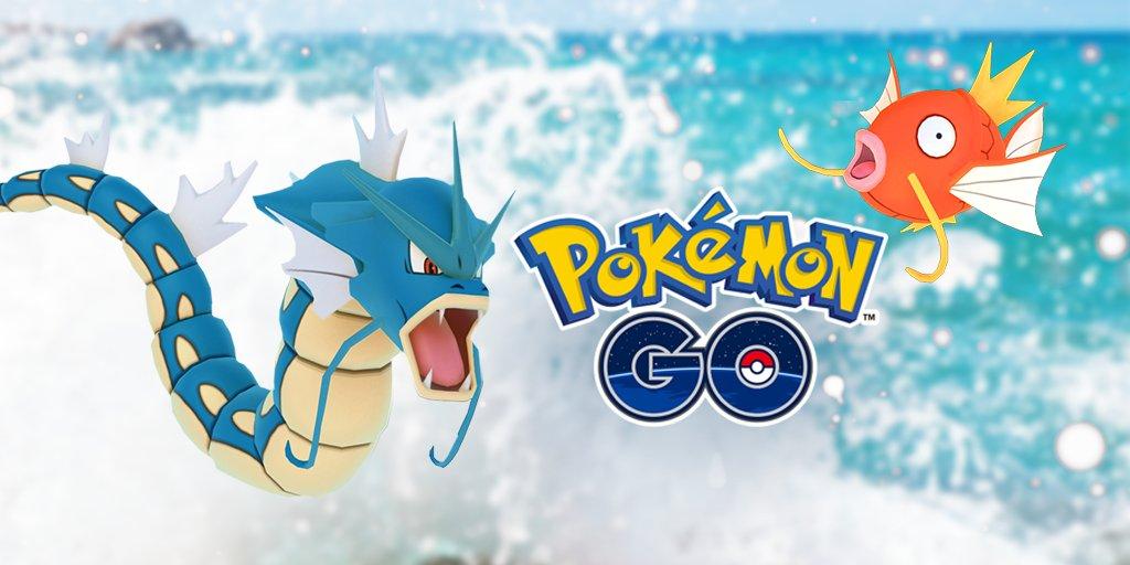 今日から3月29日(水)まで、『Pokémon GO』に、たくさんのみずタイプのポケモンが出現!  #ポケモンGO