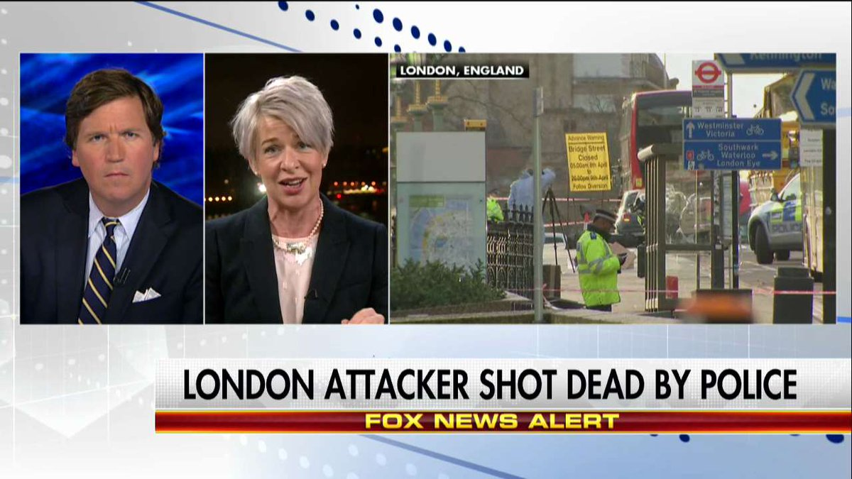 @KTHopkins on UK terror: 'I think liberals here actually think multiculturalism means we all die together.' #Tucker