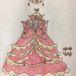煉獄皇と煉獄帝イメージドレス完成しました。 #オレカバトル #オレカ 後ろのリボンはマントのカラーリング。