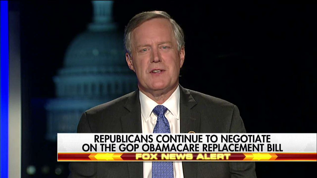".@RepMarkMeadows: ""There's still work to be done, but I can tell you that @POTUS is all engaged. I've talked to leadership this evening."""