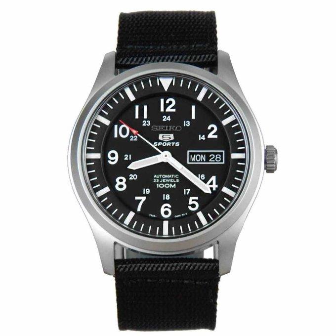 #free #fashion #watches #win #giveaway #np Seiko Men's SNZG15 Seiko 5 Automatic Black Dial Nylon Strap Watch #rt