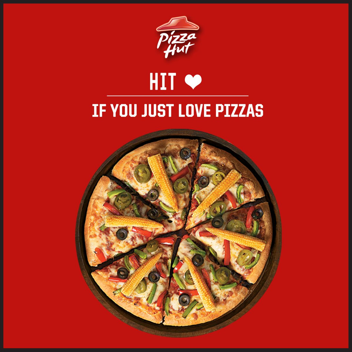 Heart our pizzas Then shower your love on us by hitting like . ThinkPizzaThinkPizzaHut https t.co K9F3tvZkM2