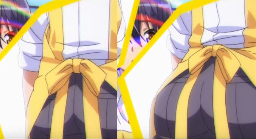 アニメ『のうコメ』第2話のTSシーンはお尻が「むちっ」と変化するところがたまらん。TS前後の尻や顔の違いを見比べるのも楽