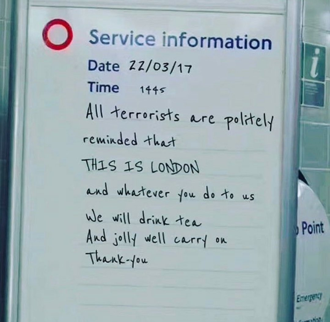 Reaction and response of emergency services in Westminster was brilliant and admirable. Immense bravery and heroism. Should be applauded.