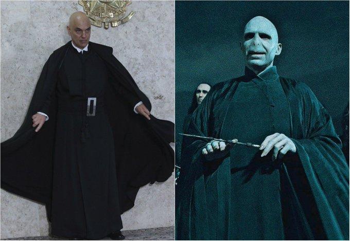 Ele voltou? Alexandre de Moraes de toga é chamado de Voldemort. https://t.co/WJNr13m0fB