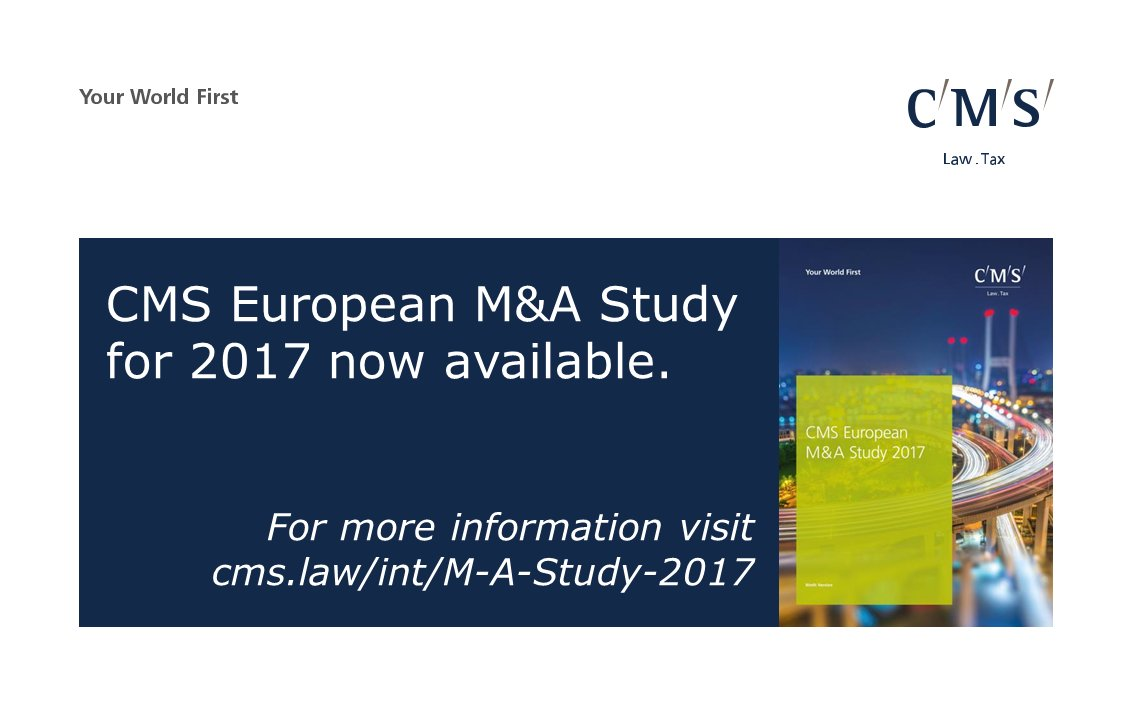 test Twitter Media - According to the CMS European #MnA Study 2017, risk allocation issues differ according to deal size @CMSCorporateLaw https://t.co/2a81NWiHhF https://t.co/v6TbrqM671