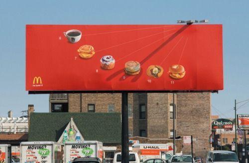 Quand @McDonalds joue avec le soleil pour vous vendre ses produits ☀️