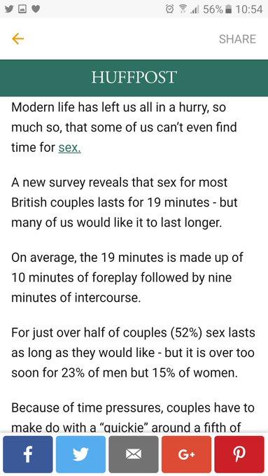 19 mins of sexy time?! Thats nooooo good https://t.co/5jctbFo96r