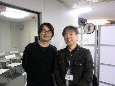 【再掲載】12歳の時、梅田ナカイ楽器に行って。お店にいた、シンセ博士の片山さん(右)が現在も店舗にいらっしゃいまして。2