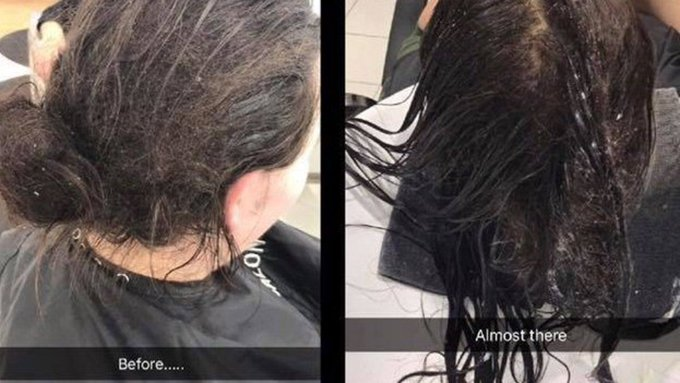 This before-and-after photograph of a haircut has gone viral for the most incredible reason https://t.co/zrcV4pjsdC