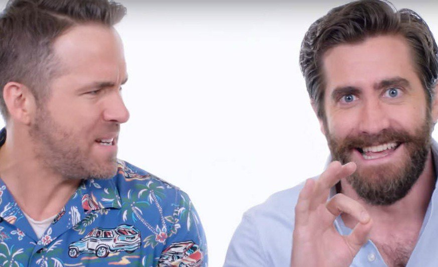 Does Ryan Reynolds wear eyeliner? He says no but Jake Gyllenhaal promises he does.