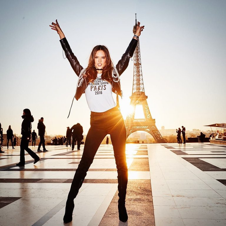 RT @AngelAlessandra: #TBT Rocking Paris! @VictoriasSecret #vsfs2016 https://t.co/Tc5YxuUNfE