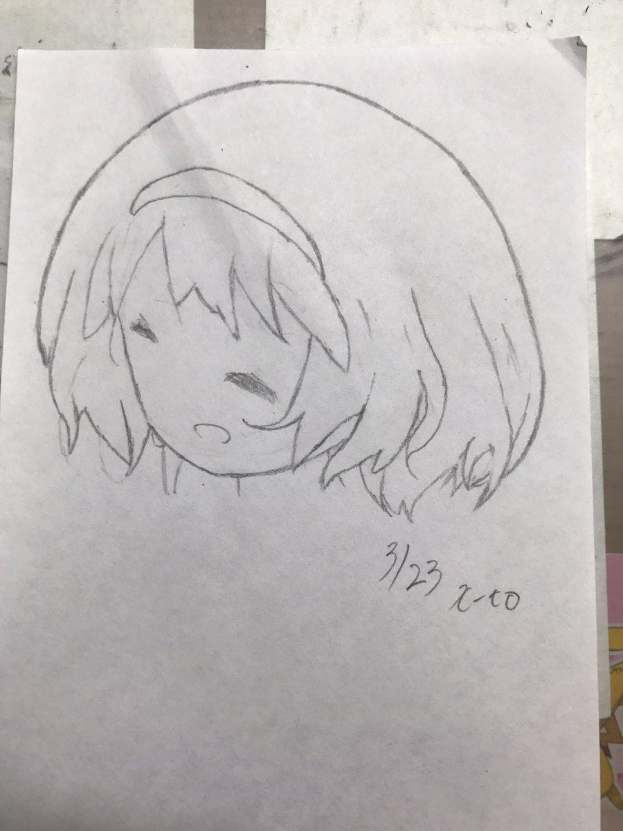 模写練習4日目、ステラのまほうより『飯野 夏』そろそろ人間描いてみようとしてみたけど髪の毛ほんとうに難しい…その分学ぶこ