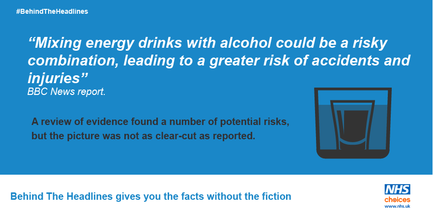 Mixing alcohol and energy drinks 'may be a risky cocktail': https://t.co/HDsQ2qSZ54 #BehindTheHeadlines