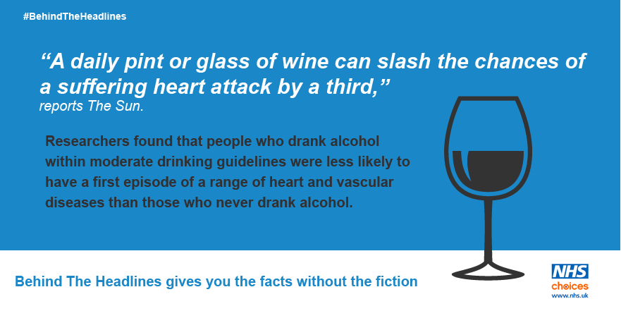 Moderate drinking may reduce heart disease risk: https://t.co/oWpb3JqKmt #BehindTheHeadlines