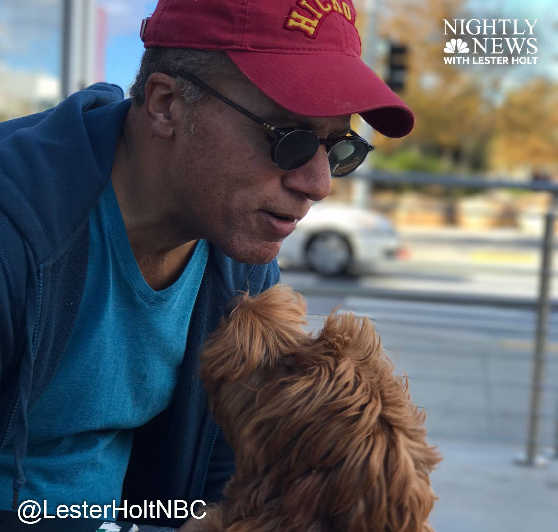 Happy #NationalPuppyDay from Lucy and @LesterHoltNBC!