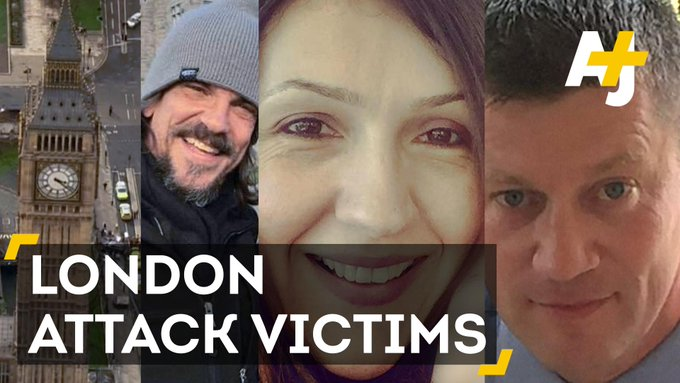 Learn about the victims of the attack near UK's Parliament last week: