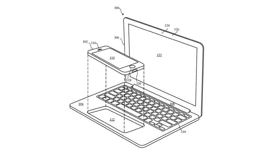 Apple patent shows what an iPhone-powered MacBook could look like