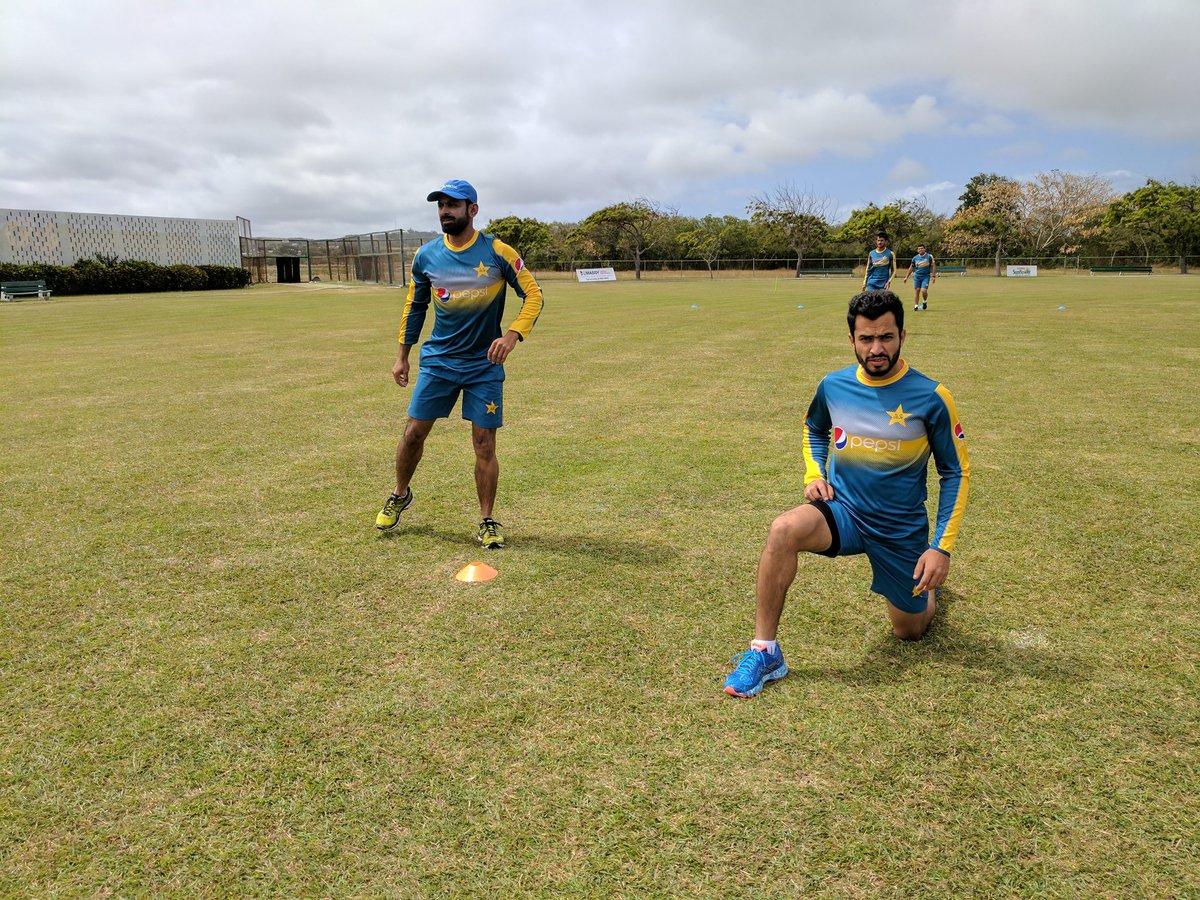 Pakistan Team light training on day one in Barbados #WIvPAK