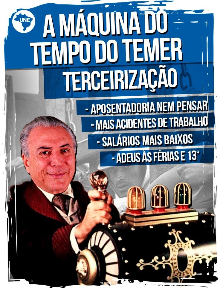 Todos às ruas, 07 de abril é Dia Nacional de Luta!  A #terceirização vai acabar com férias remuneradas, 13º salário e precarizar o trabalho.