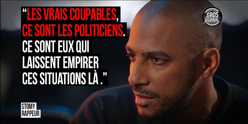 «Les coupables, ce sont les politiciens, qui laissent empirer ces situations là.» - @stomyduarte au #GrosJournal https://t.co/0sbTYDrPZo