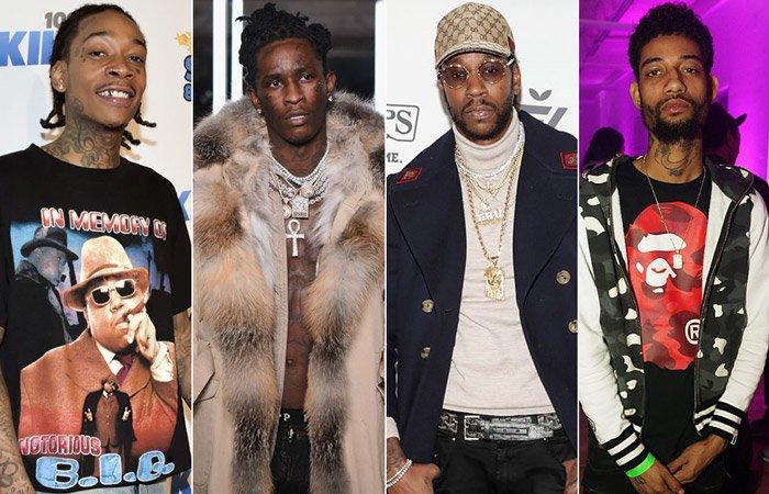 New Music: Young Thug, 2 Chainz, Wiz Khalifa, & PnB Rock - 'Gang Up' https://t.co/XAiVHYhybJ