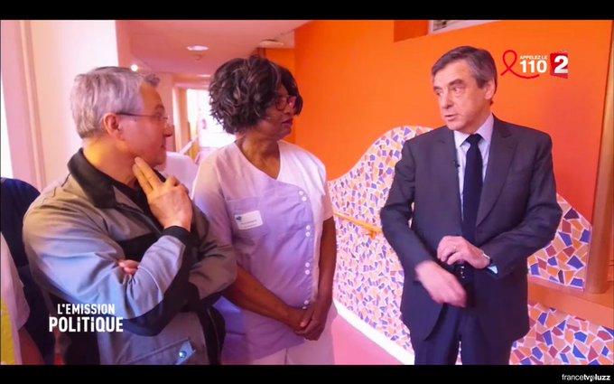 Dans un costume à 13 000 €, Fillon explique à des aide-soignantes payées  1 700 € / mois qu'il faut faire des sacrifices #LEmissionPolitique
