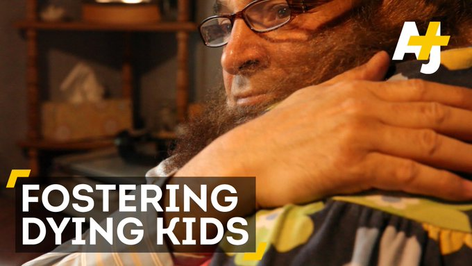 This Libyan immigrant only fosters terminally ill children.