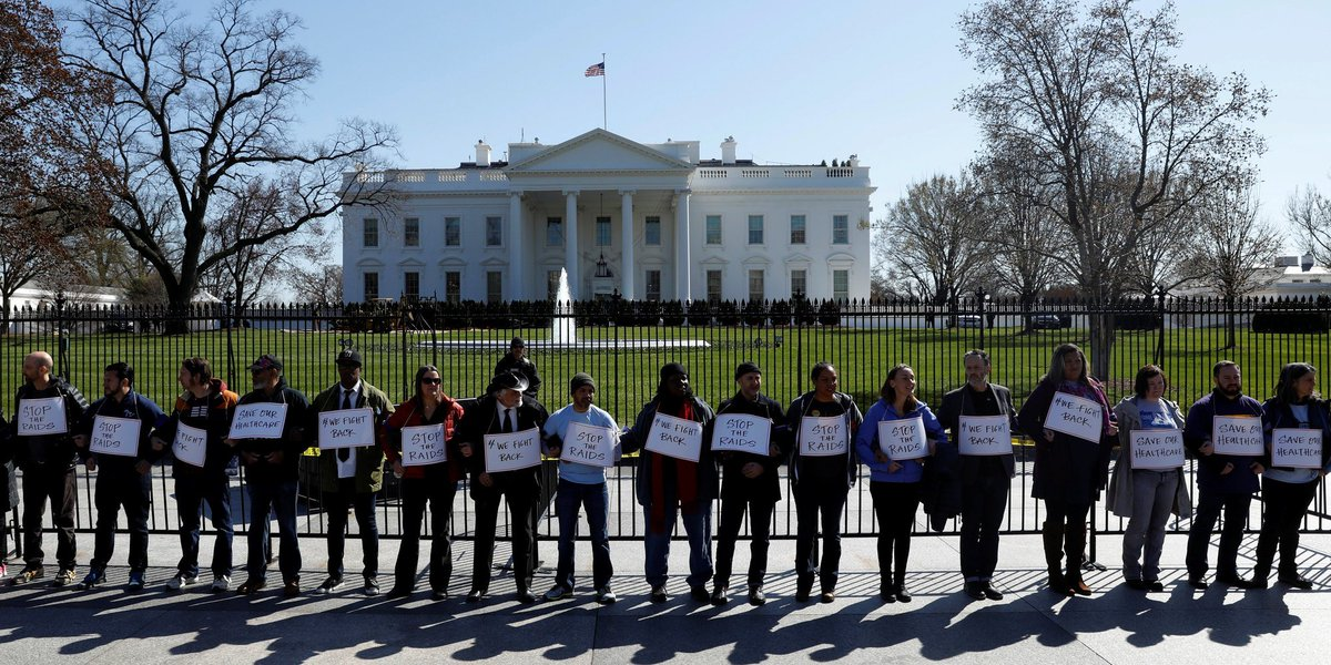 Activists arrested protesting Obamacare repeal outside the White House