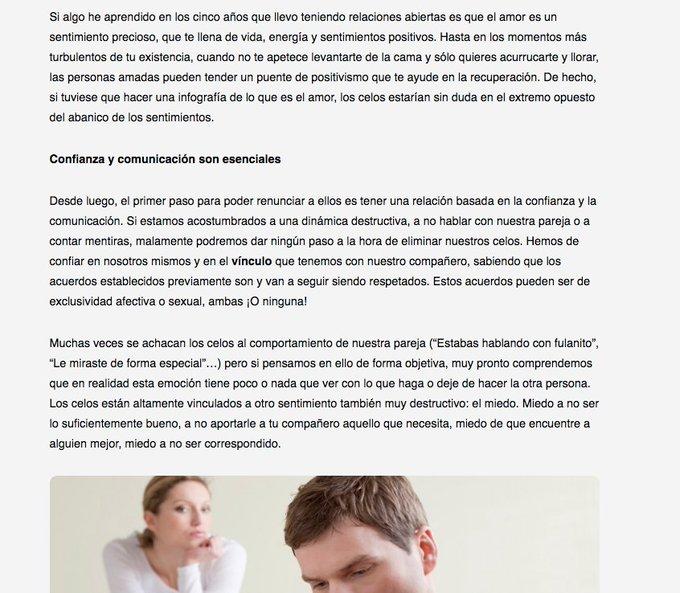 """""""Cómo eliminar los celos de tu vida"""" un artículo para @El_Sextante Aquí os dejo el enlace: https://t"""