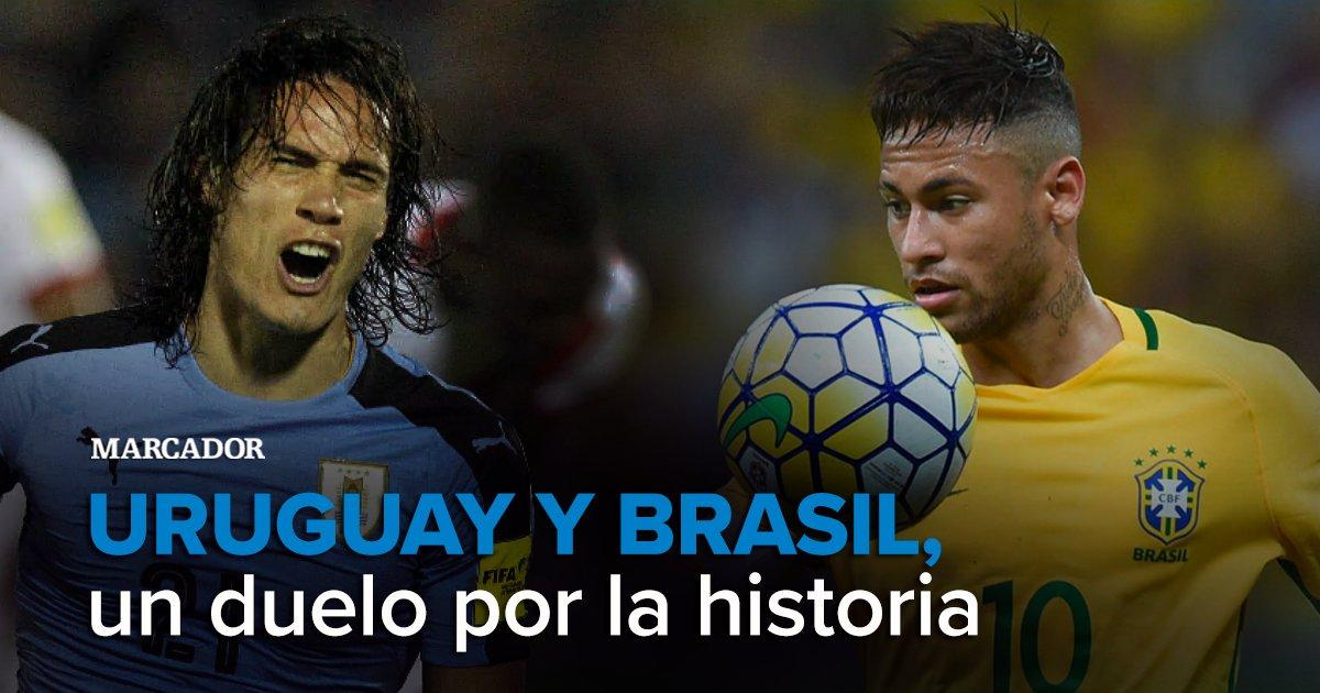 Uruguay y Brasil vuelven a verse hoy tras el 6-1 en la Champions