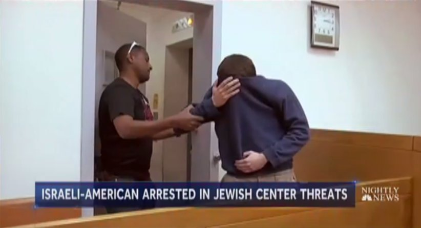 Man arrested in Israel over wave of threats to Jewish centers in US and other countries.  @PeteWilliamsNBC reports now on @NBCNightlyNews.