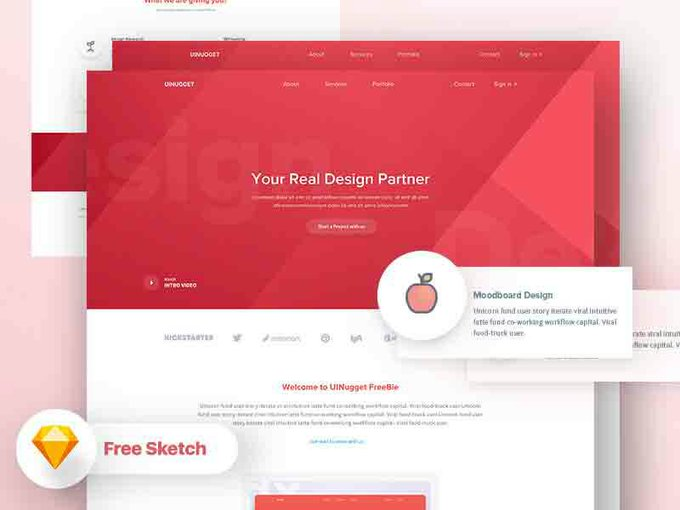 Try this multi use freepsd landing page freepsd psd freebies