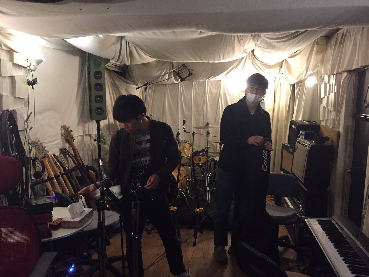 【レコーディング!】今日は綾瀬にあるカフェオレーベルさん( )にてskill outとして初のレコーディングをします!カ