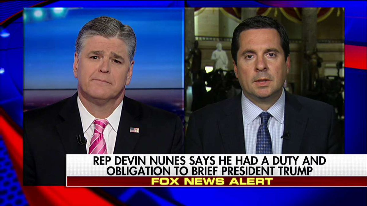 ".@DevinNunes: ""Names for sure if they're picked up in any incidental collection of any kind, they should be minimized."" #Hannity"