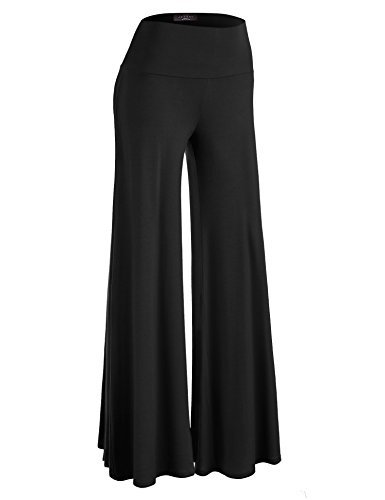 #fashion #free #style #win #giveaway MBJ WB750 Womens Chic Palazzo Lounge Pants L BLACK #rt
